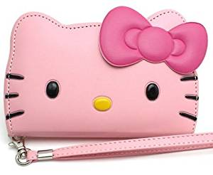 Hello Kitty 3D Wallet Case Apple Iphone 6 [4.7] iPhone 6 [4.7] with Band-baby Pink