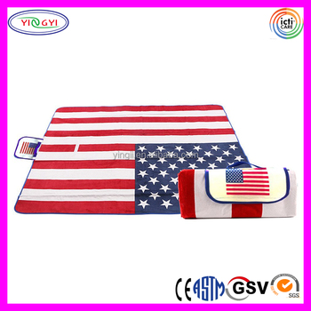 E025 Extra Large American National Flag Outdoor Blanket Foldable