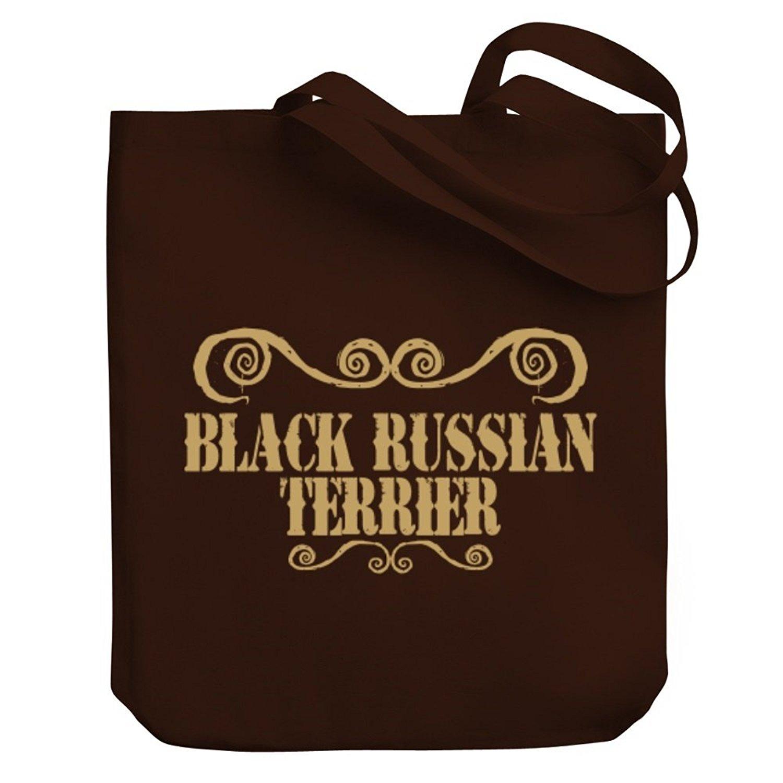 Teeburon Black Russian Terrier ORNAMENTS URBAN STYLE Canvas Tote Bag