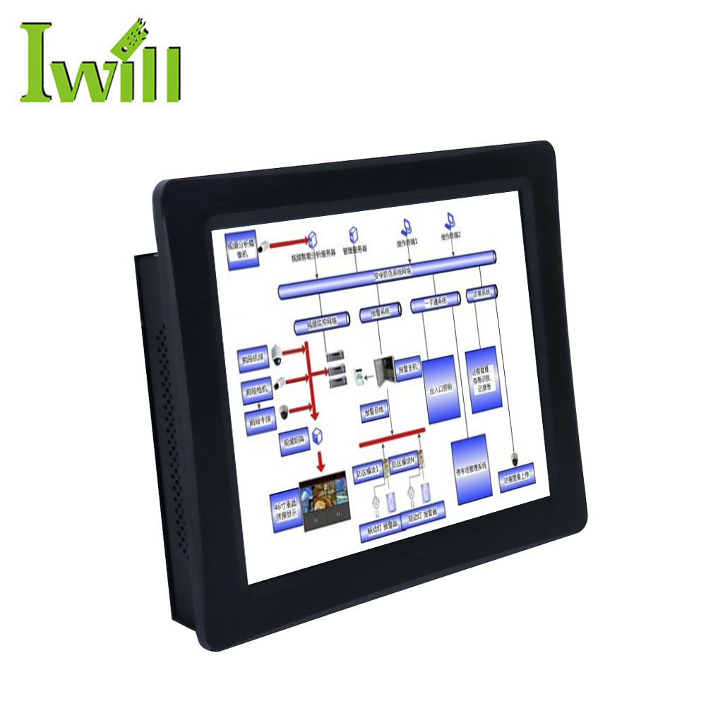 12.1 inch Min Wall Mount PC Case Intel J1900 Quad Core Alles In Een Systeem Resistive Touch Screen Computer
