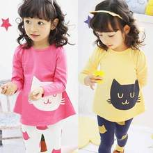 New baby Girl Kids clothes long sleeve Top Casual Shirt Leggings Pant 2pcs Outfit 2Pcs Suit