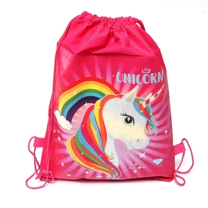 Unicorn Party Drawstring Bags for Kids Birthday - Treat Goody Backpack SKD102-A