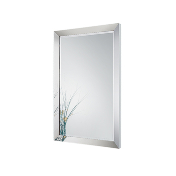 Large Wall Mirror For Bathroom Vanity Stainless Steel Frame Beveled Edge Framed Hotel Product