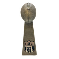 Hot Sale Personalized Handmade Polyresin fantasy football trophy 10