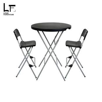 80cm Round Fast Food High Gloss Folding Dining Table And Chairs Product On