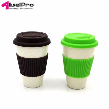 Allwell custom printed logo creative plastic 450ml coffee cup with lid