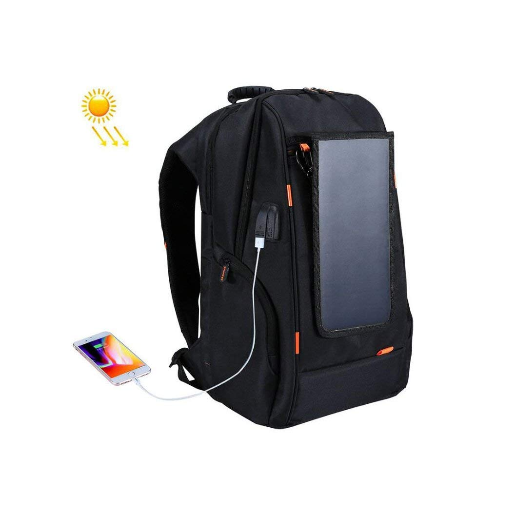 YaXuan Solar Backpack Solar Charge Backpack Outdoor Travel Rucksack USB Backpack Large Capacity Bag