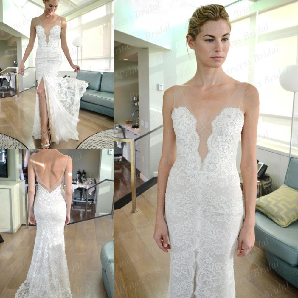 best loved sale uk exclusive deals Low Cut V Neck Wedding Dresses
