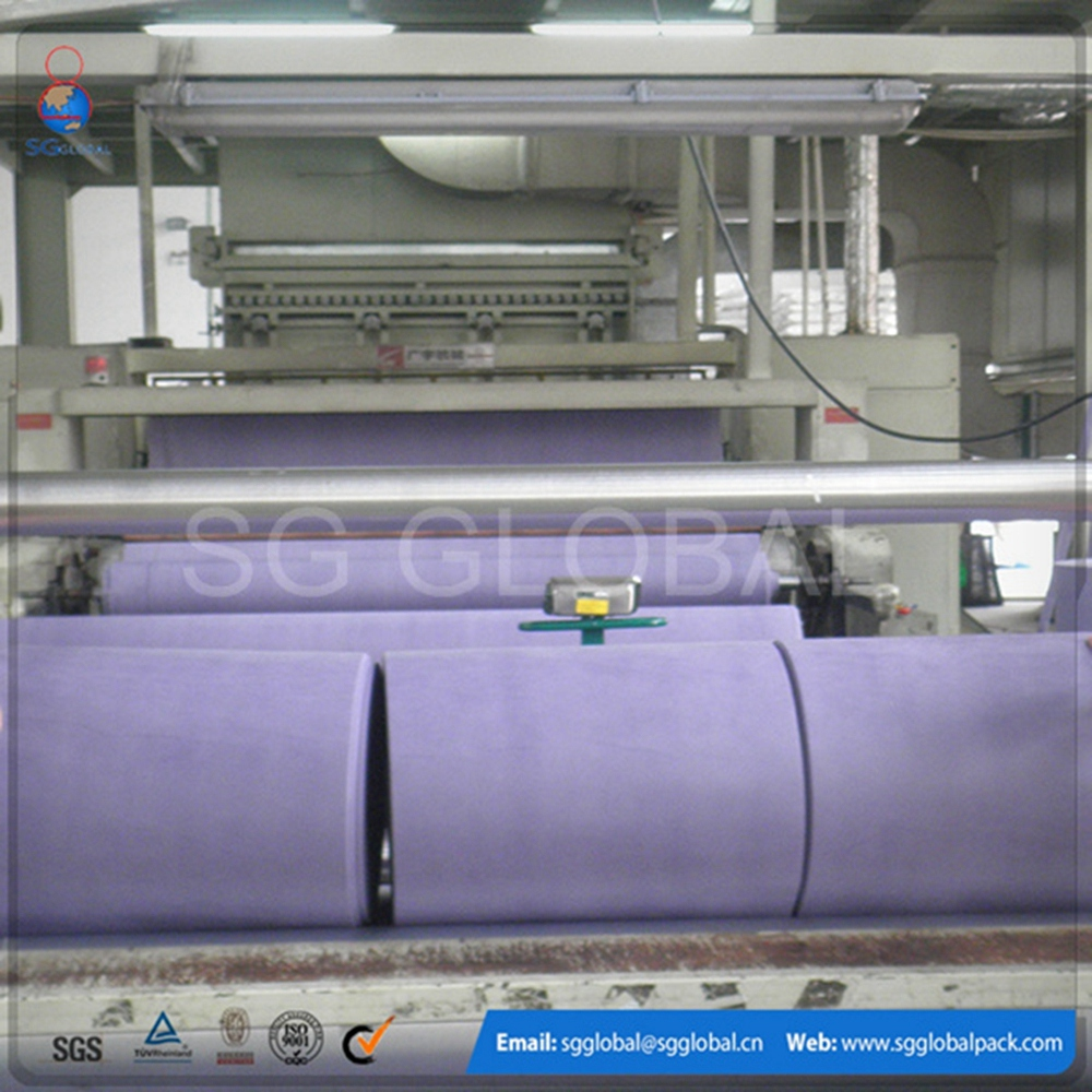 China manufacture polyester non woven fabric needle felt carpets