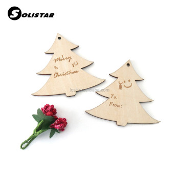 2018 new creative laser cut wooden christmas tree decorations
