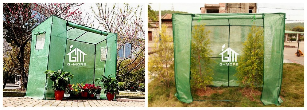 G-MORE Tomato Series , PE cover Two windows Various sizes ,Steel tube Greenhouse (GM22004-2)