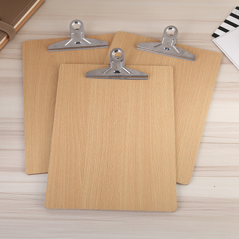 Best Price Best Promotion Wooden Clipboard A5 Hardboard Menu Board With Clip For Office Restaurant Accessories