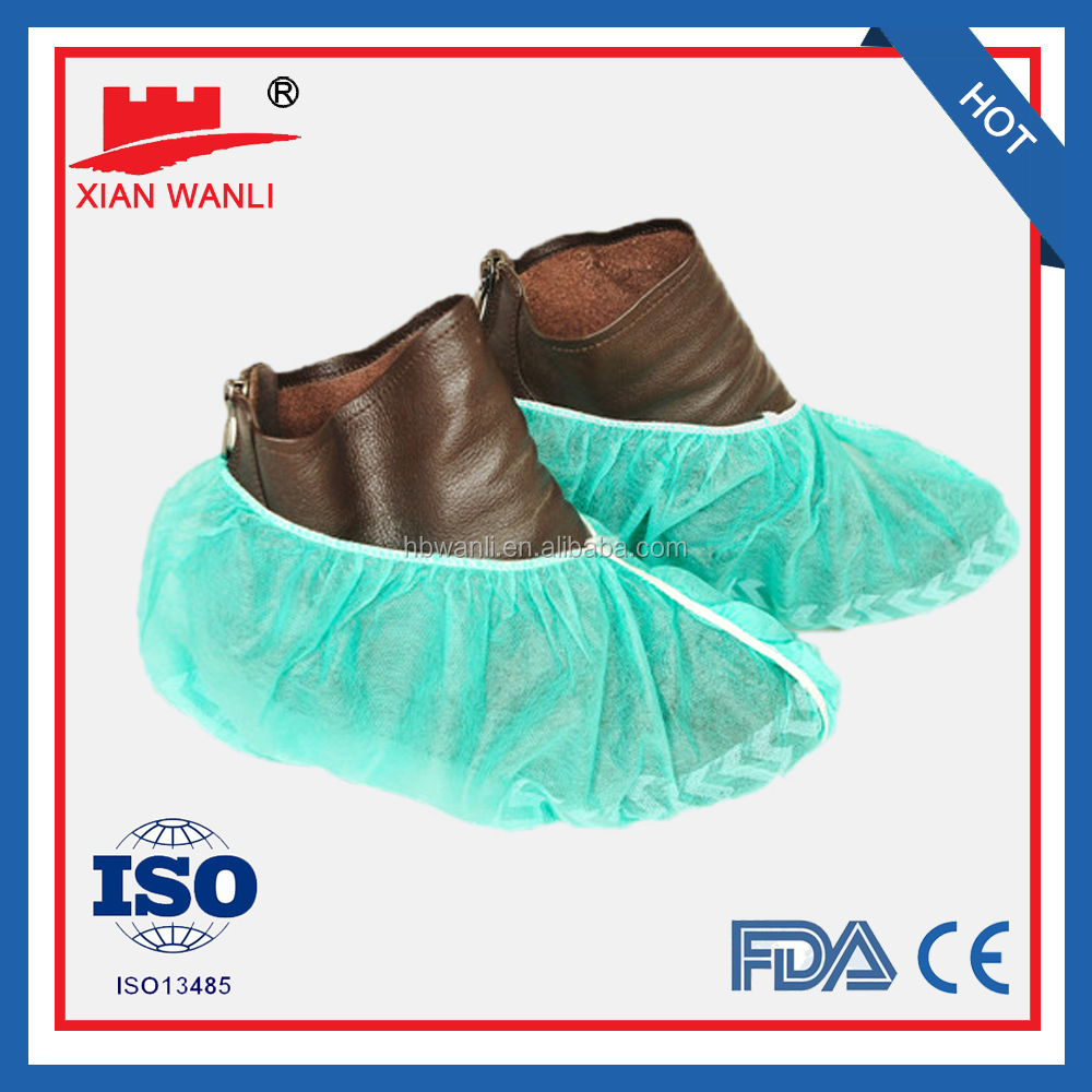 Top quality Nonwoven disposable Shoe cover by hand