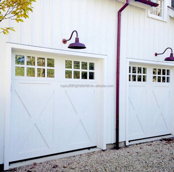 2018 Modern 9x8 vintage white garage door