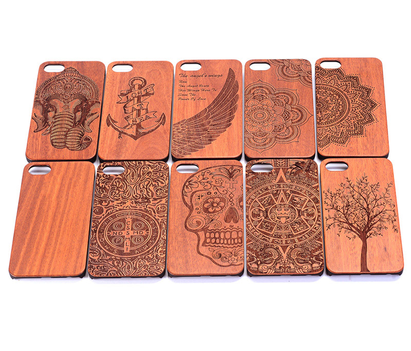 Free shipping Natural Real Wooden Hard Carved Wood Cell Phone Case <strong>Cover</strong> For iPhone 7 / 7 plus