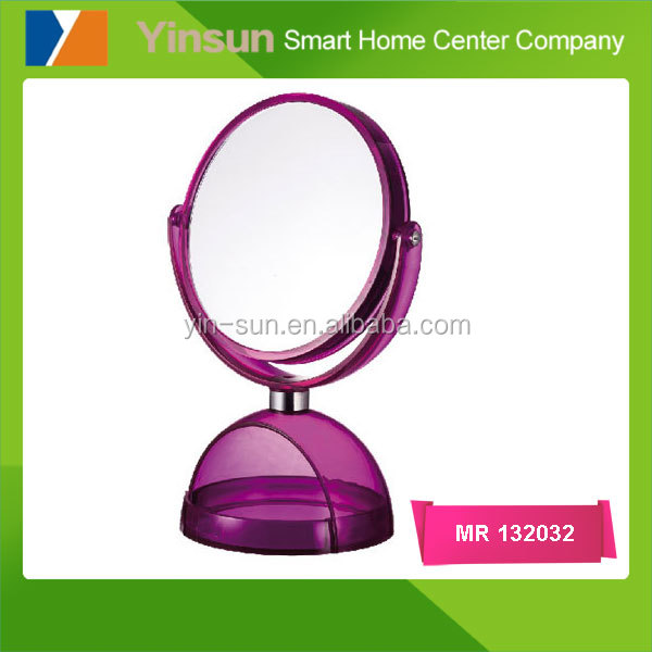 Desk double side makeup mirror, magnifying cosmetic mirror