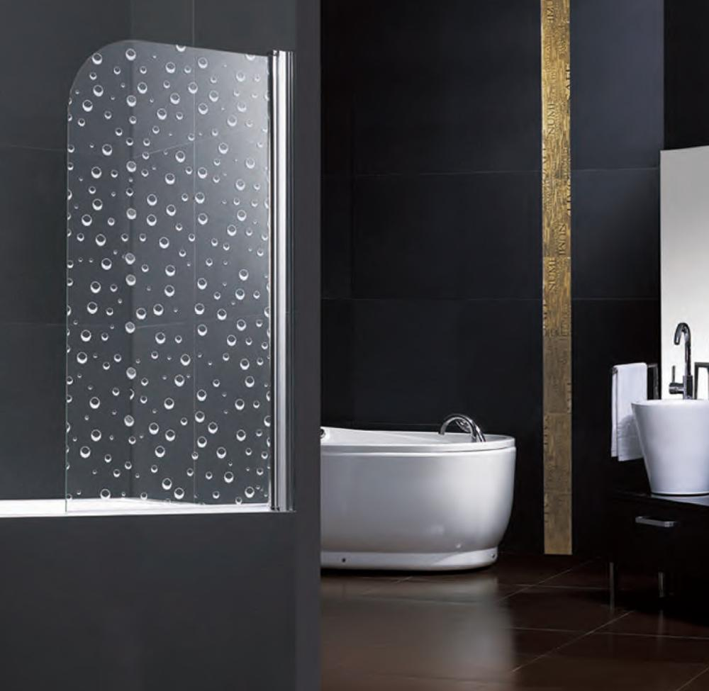 Hot Sale Self Clean Bathtub Screen One Spindle Door With Spinning