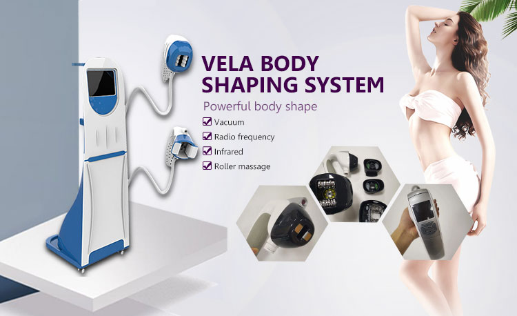 3 treatment handles Vacuum roller slimming Vela body shape machine