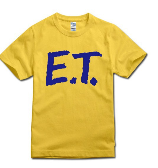 48046b623 Get Quotations · High Quality Custom MOVIE ET Logo Print T Shirts Men Short  sleeve T Shirts