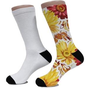 Sublimation Blank Socks Mens White Sock