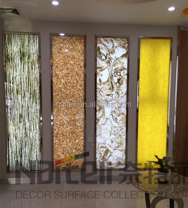 Resin Panel Interior Wall Decor With Led Lights Buy Wall