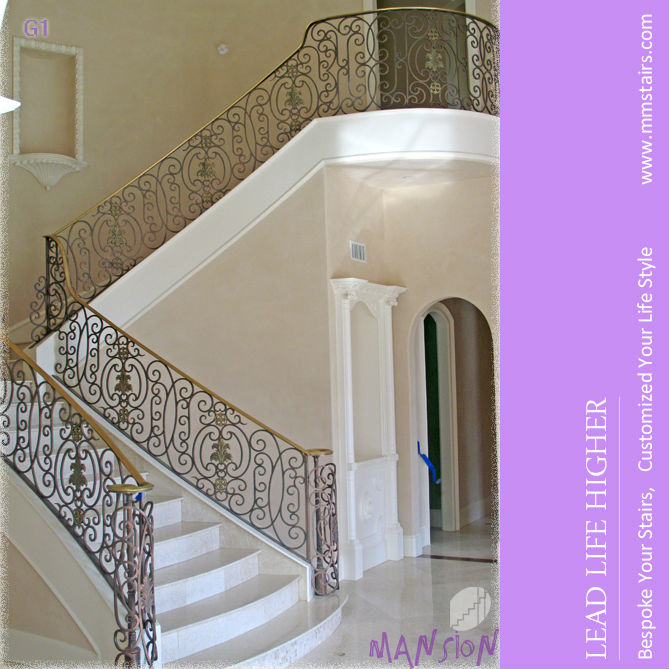 Antique Style Cast Iron Stair Railing Design