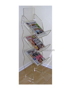 Floor standing acrylic outdoor newspaper racks