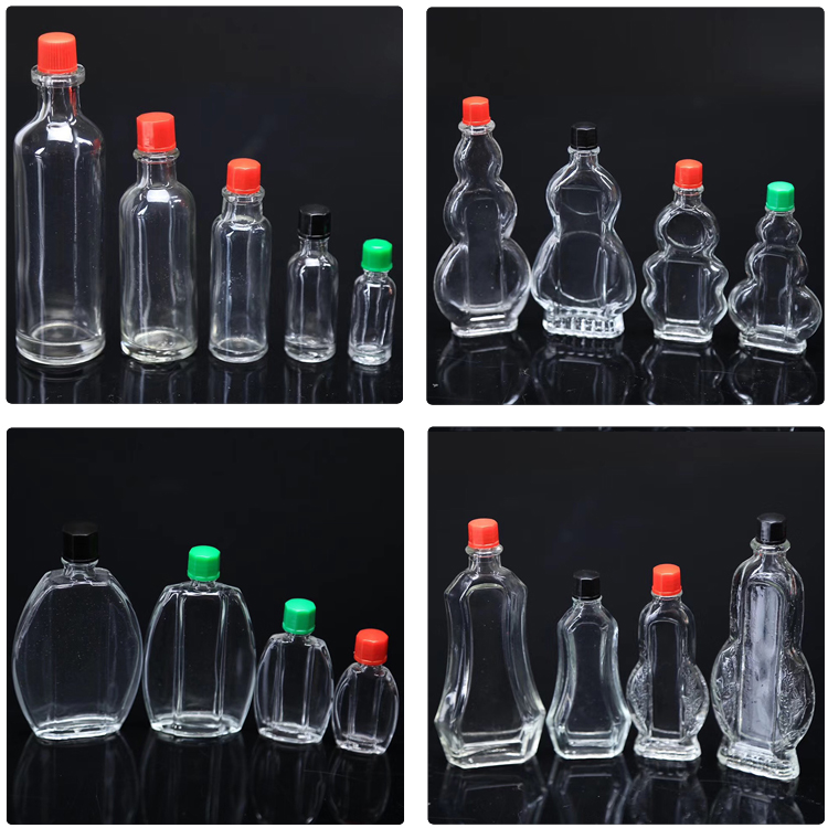 45ml medicated oil bottle safflower oil glass bottle with color plastic screw cap
