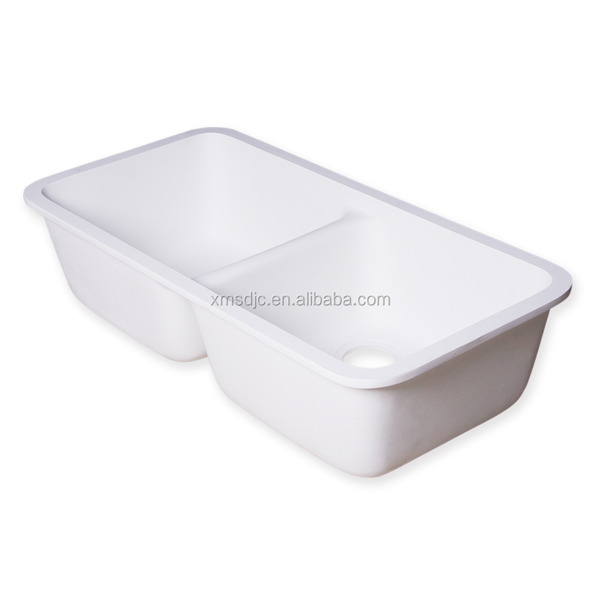 Low price colorful double bowl Acrylic resin kitchen sink
