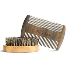 custom nature green sandalwood beard comb