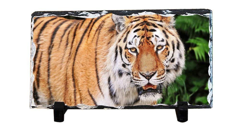 DKLZY Christmas Gifts Personalized Slate Desktop Decoration Plaque - Tiger Custom Photo Slate