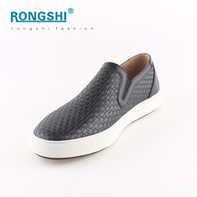 2017 new style wholesale china shoe factory casual peas juti flat woven pu men mens man slipper loafers slip on shoes shoes