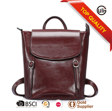 Eco-Friendly Factory classic cow leather tote bags women trendy leather backpack for ladies