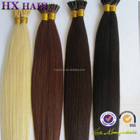 100% Indian Virgin Hair Double Drawn Silky Straight remy human hair keratin bond