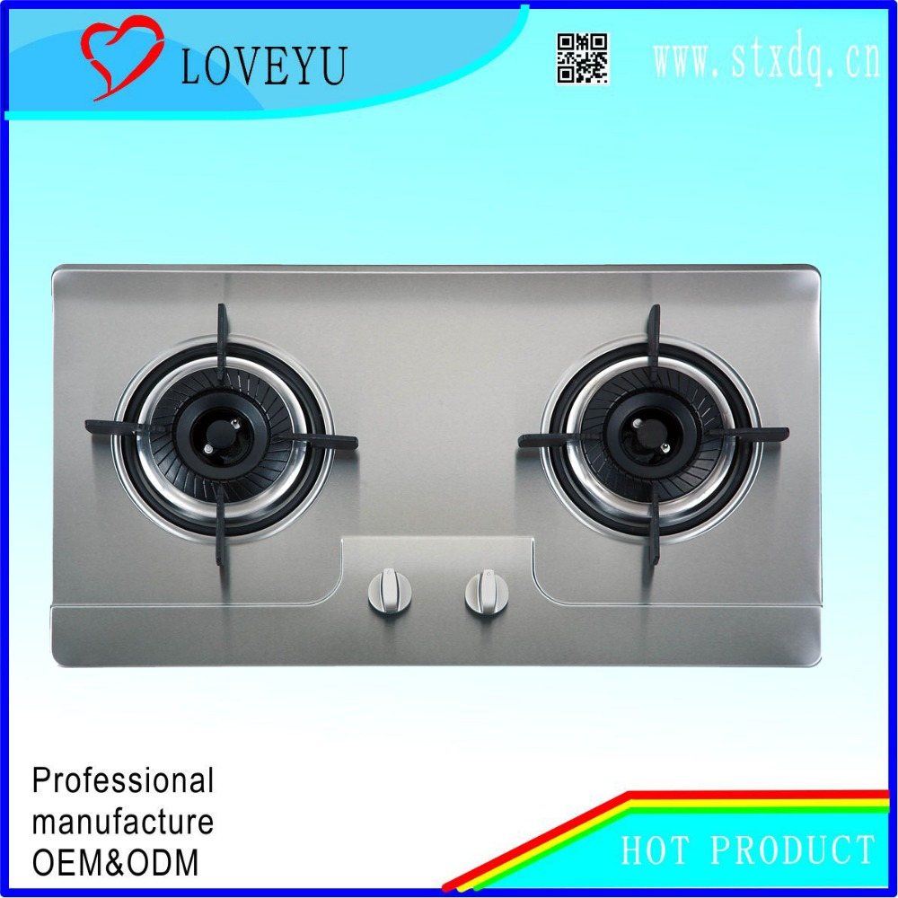 house bulit in desk propane gas stove 2 burner embedded gas cooker