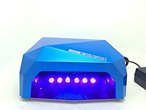 RioRand 36W Nail Dryer Professional Diamond Shaped CCFL & LED UV Nail Lamp (UV & LED 2 in 1 Nail Gel Lamp) Curing Nail Dryer for LED UV Gel Nail Polish nail tools - Sapphire
