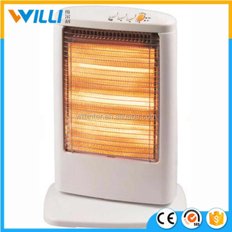 1200w halogen eletric heater with automatic tip-over protect