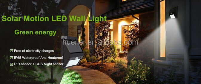 Outdoor Waterproof Wall Lighting Led Solar Garden Lamp Lights With Panel