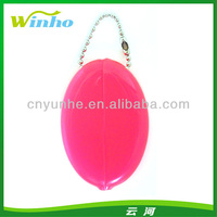 Rubber Squeeze Coin Purses Blank Custom Promotion Logo Coin Wallet