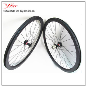 Cheap Chinese carbon disc wheel 38mm deep 25mm wide 700c carbon cyclocross wheels 28H-28H with Novated disc hub