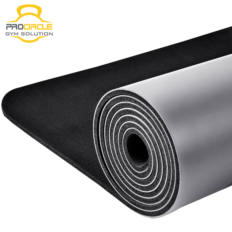 PU Polyurethane Leather Natural Rubber Anti-Slip Fitness Exercise Yoga Mat