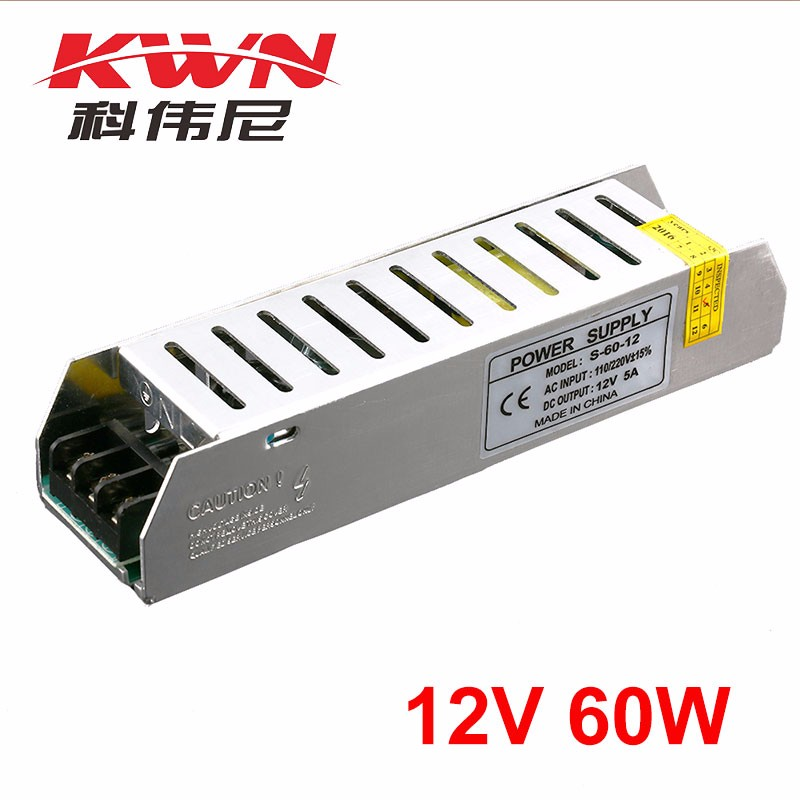 IP 20 Single Output Led Light 12v 5a Power Supply for Outdoor Application