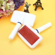 White plastic handle pet comb air bag dog comb Pussy needle bar protection point depilatory comb