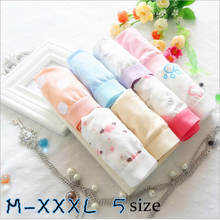 Women's Panties Plus Size 3XL Print Flower Cotton Panties kulot Sexy Underpants Cute Panties For Ladies Briefs Underpants WW01