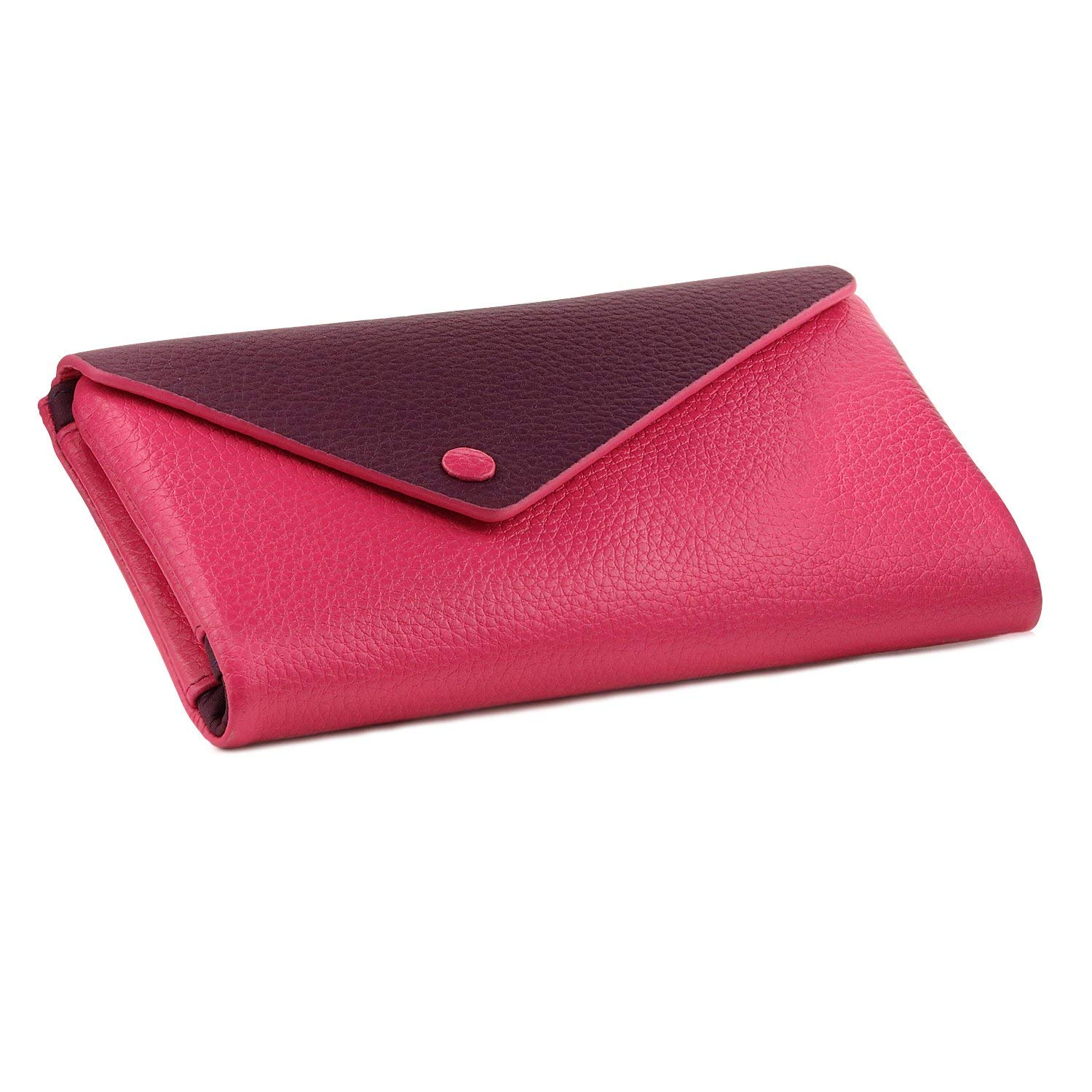 OTTO Genuine Leather Envelope Wallet with Phone Compatible Slots - RFID Blocking - Unisex