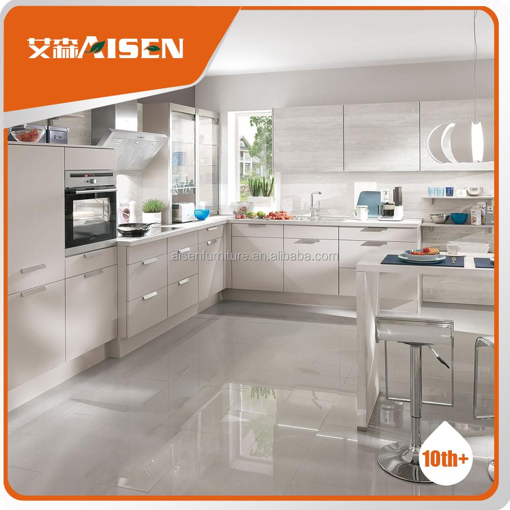 Gabinete de cocina de fabricación en Hangzhou mdf diseño del ...