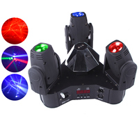 Cheap & Hot Selling 3heads 10W RGBW 4in1 led mini moving head beam light DJ stage equipment lighting