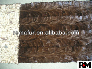 MINK FUR PIECES PLATE/RUG/CARPET
