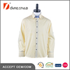 Contrast collar band Yoke and placket yellow gold solid twill latest shirt designs men