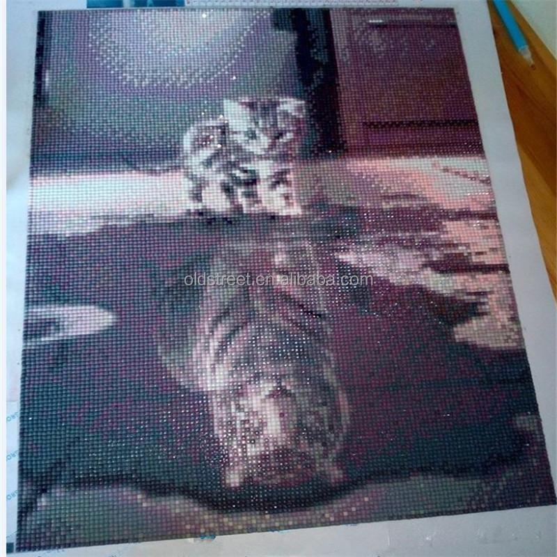 Katze sieht wie tiger DIY 5D diamant malerei kleber überqueren stich ...
